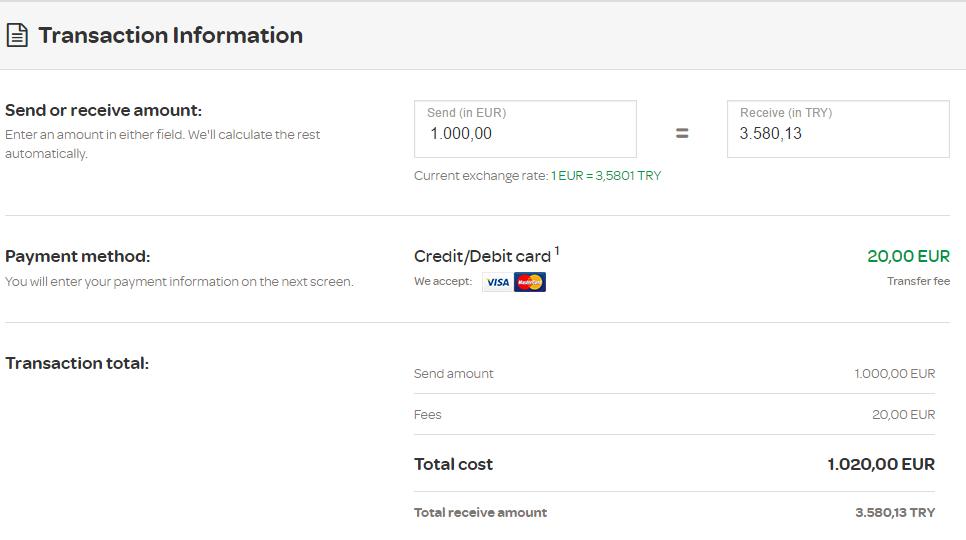 MoneyGram Almanyadan Turkiyeye Havale