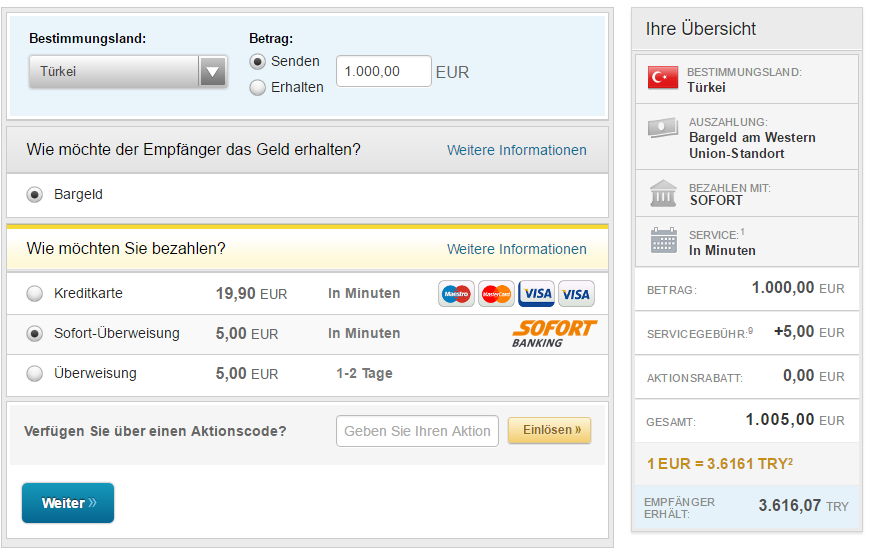Western Union Almanyadan Turkiyeye Havale 2